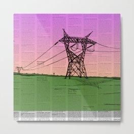 For Juliet (Powerlines-Classified) Metal Print
