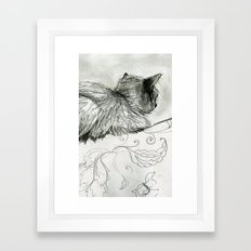 Fluffers on the Sofa Framed Art Print