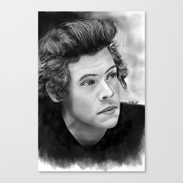 Harry Styles Painting Canvas Print