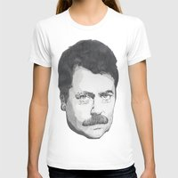 ron swanson T-shirts featuring Ron Swanson by Lina