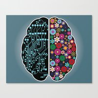 brain Canvas Prints featuring Brain by BlueLela