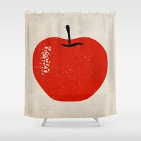 apple Shower Curtains featuring Apple by Roland Lefox