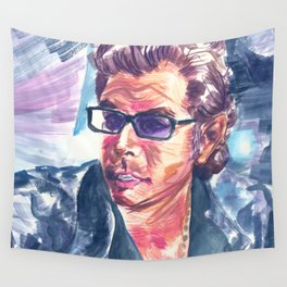 "Jurassic Park : Jeff Goldblum/Ian Malcom : ""Chaotician 4 / 4"" Wall Tapestry"