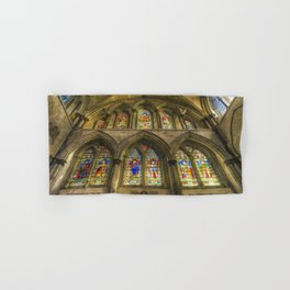 Rochester Cathedral Stained Glass Windows Art Hand & Bath Towel