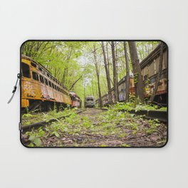 Abandoned Trolley Cemetery Laptop Sleeve