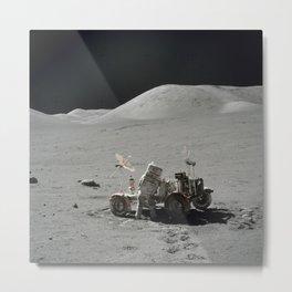 Apollo 17 - Lunar Rover Work Metal Print