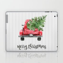 Red Truck With Christmas Tree Laptop & iPad Skin