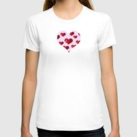 hearts T-shirts featuring Hearts by Marjolein