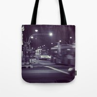 blur Tote Bags featuring Blur by Tanya Bhargava