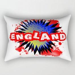 England Comic Exclamation Rectangular Pillow