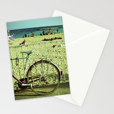 Bicycle by the Beach Stationery Cards