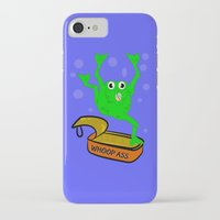 frog iPhone & iPod Cases featuring Frog by mailboxdisco
