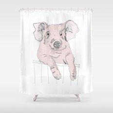 Piggywig Shower Curtain