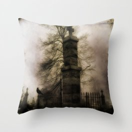 Old Cemetery Gate Throw Pillow