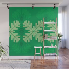 Oak Leaves in Summer – Green Wall Mural