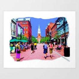 Vermont Street Painting Art Print
