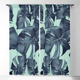 Monstera Leaves Pattern #10 #tropical #decor #art #society6 Blackout Curtain