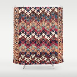 Kagizman Gaziantep Southeast Anatolian Rug Print Shower Curtain