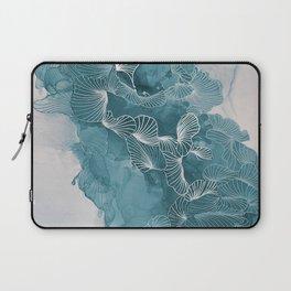 Teal Leaves Laptop Sleeve