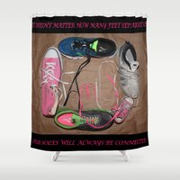 family Shower Curtains featuring Family by Beastie Toyz