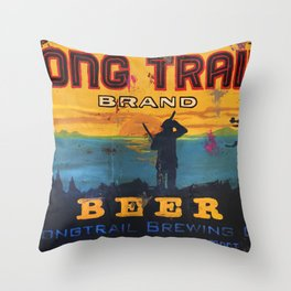 Vermont Brewers Series Long Trail Throw Pillow