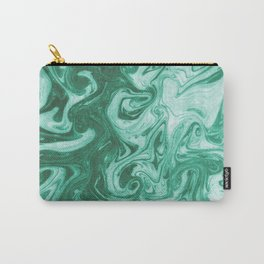 Eiji - modern minimal marbled ink paper monoprint printmaking japanese spilled ink artwork  Carry-All Pouch