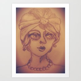 Vintage She Art Print