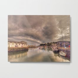 Porthmadog Harbour at Dusk Metal Print