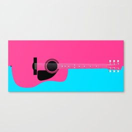 Pink Acoustic Guitar Background Canvas Print