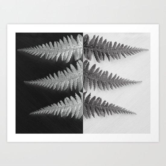OPPOSITES LOVE - Ferns love Art Print