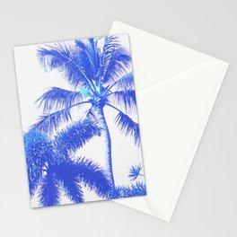 Blue Palm Paradise Stationery Cards