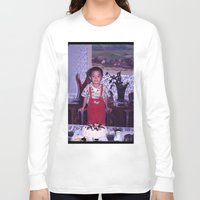 dad Long Sleeve T-shirts featuring Dad by Hector Wong