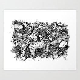 Inky Undergrowth Art Print