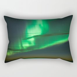 Early night northern lights (aurora borealis) in Iceland Rectangular Pillow
