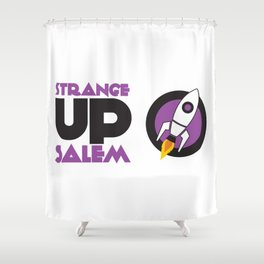 Strange Up Salem Logo Shower Curtain