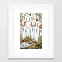 castle Framed Art Prints featuring Castle by Joe Lillington