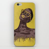 gold glitter iPhone & iPod Skins featuring Glitter by MessyDesk