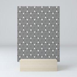 Hypnotic Black and White Circle Pattern - Digital Illustration - Graphic Design Mini Art Print