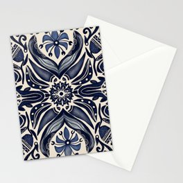 Indigo Folk Florals by Lori Perez Stationery Cards
