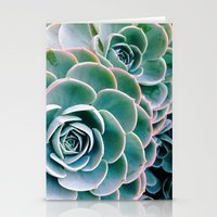 succulents Stationery Cards featuring Succulents by Ez Pudewa