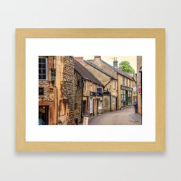 Downtown In The Cotswolds Framed Art Print