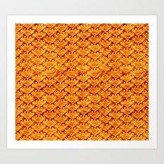 Digital knitting pattern Art Print