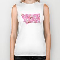 montana Biker Tanks featuring Montana in Flowers by Ursula Rodgers