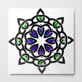 celtic watercolor symbol Metal Print