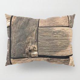 Rustic Wood Block // Tetris Jenga Vibe Real Hardwood Texture Accent Decoration Pillow Sham