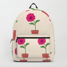 pink dahlia in the pot Backpack