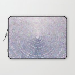 Pale Flower Mandala Laptop Sleeve