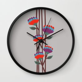 Émile Flowers Wall Clock
