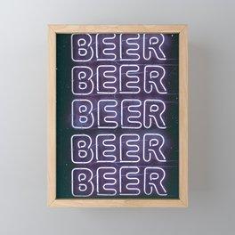 Beer Beer Beer Framed Mini Art Print