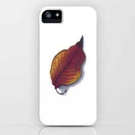 Cherry Leaf Watercolor iPhone Case
